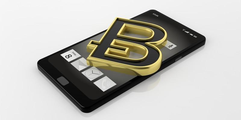 スマートフォンがビットコインの財布